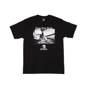 SKULL SKATES / スカルスケーツ ROOTS 半袖 Tシャツ BLACK ブラック|americanrushstore