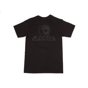 SKULL SKATES / スカルスケーツ BLACK OUT 半袖 Tシャツ BLACK ブラック|americanrushstore