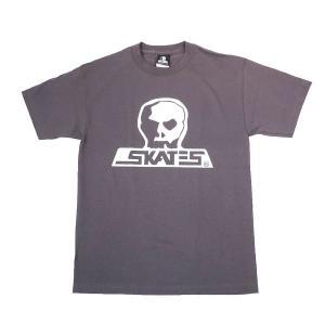 SKULL SKATES / スカルスケーツ LOGO FRONT 半袖 Tシャツ CHARCOAL|americanrushstore