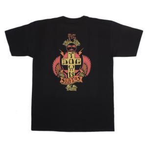 DOGTOWN / ドッグタウン P.C. TAIL TAP 半袖 Tシャツ スケート BLACK ブラック|americanrushstore