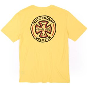 BRIXTON × INDEPENDENT / ブリクストン FILLMORE POCKET TEE ポケットTシャツ PREMIUM FIT WASHED YELLOW|americanrushstore