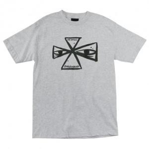 インディペンデント バービー クロス 半袖 レギュラー Tシャツ ヘザーグレー メンズ トラック  INDEPENDENT BARBEE CROSS REGULAR S/S TEE ATHLETIC HEATHER|americanrushstore