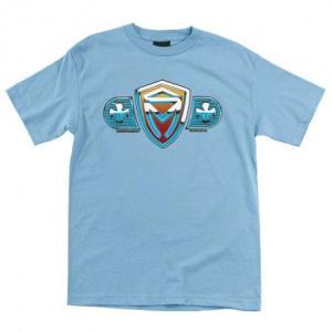 インディペンデント トラック スケートマフィア 半袖 Tシャツ ライトブルー 水色 メンズ INDEPENDENT TRUCK SK8MAFIA SHIELD REGULAR S/S T LIGHT BLUE|americanrushstore