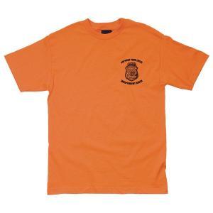 INDEPENDENT / インデペンデント BADGE S/S T-SHIRT 半袖 Tシャツ スケート ORANGE オレンジ|americanrushstore