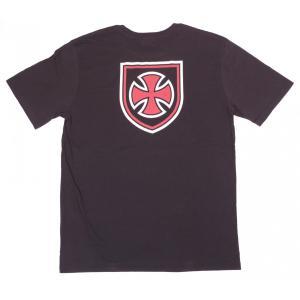ブリクストン インディペンデント メンズ 半袖 Tシャツ ウォッシュド ブラック BRIXTON INDEPENDENT F/U HEDGE S/S T WASHED BLACK PREMIUM FIT|americanrushstore