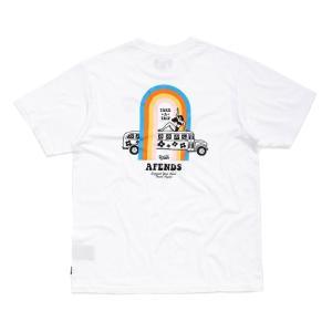 アフェンズ メンズ 半袖 Tシャツ ホワイト スケート サーフ AFENDS TRIPPIN S/S T-SHIRT WHITE JM192007|americanrushstore