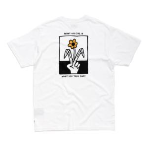 アフェンズ メンズ 半袖 Tシャツ ホワイト スケート サーフ AFENDS PUSHING DAISIES S/S T-SHIRT WHITE JM192008|americanrushstore