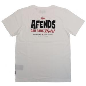アフェンズ メンズ 半袖 Tシャツ ホワイト サーフ AFENDS CARPARK LOGO S/S T-SHIRT WHITE JM193018|americanrushstore