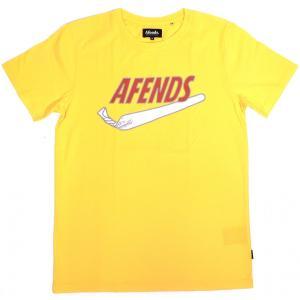 アフェンズ スタンダード フィット 半袖 Tシャツ イエロー カナリア スケート メンズ AFENDS JUST DID IT STANDARD FIT T-SHIRTS CANARY 18A1-09|americanrushstore