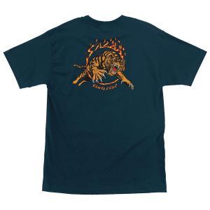 サンタクルーズ サルバ タイガー 半袖 Tシャツ ハーバーブルー メンズ スケートボード SANTACRUZ SALBA TIGER REGULAR S/S TEE HARBOR BLUE americanrushstore
