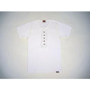 INDIAN MOTORCYCLE / インディアンモーターサイクル IM76299 フライス コンチョ ヘンリーネックTシャツ 101 WHITE|americanrushstore