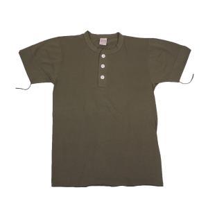 HEALTHKNIT / ヘルスニット 906S HENLEY NECK 半袖 ヘンリーネックTシャツ OLIVE|americanrushstore
