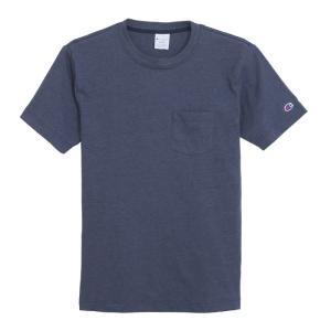 チャンピオン ポケット 半袖 Tシャツ ポケT 吸水速乾 ネイビー CHAMPION POCKET T-SHIRTS NAVY C3-K344|americanrushstore