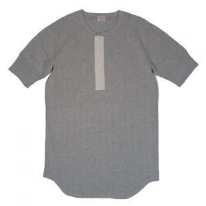 ヘルスニット ヴィンテージブロードリブ ヘンリーネック 半袖 Tシャツ ヘザーグレー HEALTHKNIT 710 HENLEY NECK S/S T-SHIRT HEATHER GRAY|americanrushstore