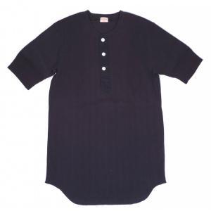 ヘルスニット ヴィンテージブロードリブ ヘンリーネック 半袖 Tシャツ ネイビー HEALTHKNIT 710 HENLEY NECK S/S T-SHIRT NAVY|americanrushstore