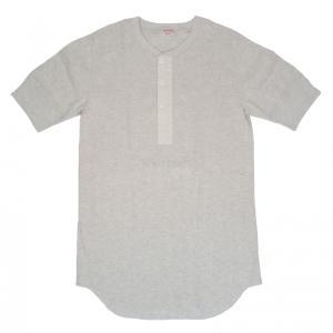 ヘルスニット ヴィンテージブロードリブ ヘンリーネック 半袖 Tシャツ オートミール HEALTHKNIT 710 HENLEY NECK S/S T-SHIRT OATMEAL|americanrushstore