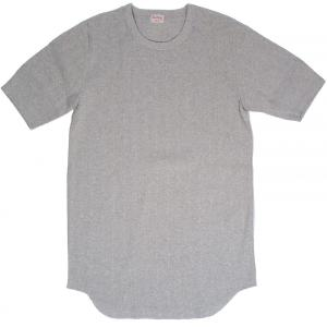 ヘルスニット ヴィンテージブロードリブ クルーネック 半袖 Tシャツ ヘザーグレー HEALTHKNIT 711 CREW NECK S/S T-SHIRT HEATHER GRAY|americanrushstore