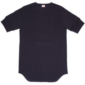 ヘルスニット ヴィンテージブロードリブ クルーネック 半袖 Tシャツ ネイビー HEALTHKNIT 711 CREW NECK S/S T-SHIRT NAVY|americanrushstore