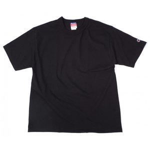 チャンピオン 7オンス ヘリテージ ジャージー 半袖 無地 Tシャツ ブラック 黒 バインダーネック メンズ レディース CHAMPION S/S T-SHIRT BLACK americanrushstore