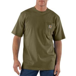 カーハート 半袖 ポケットTシャツ オリジナルフィット アーミーグリーン オリーブ ポケT CARHARTT POCKET T-SHIRT ORIGINAL FIT ARMY GREEN|americanrushstore