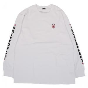 ブリクストン インディペンデント メンズ ロンT 長袖 Tシャツ ホワイト BRIXTON INDEPENDENT F/U FRAME L/S STT WHITE|americanrushstore