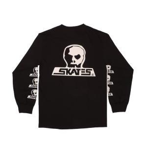 SKULL SKATES / スカルスケーツ LOGO ロングスリーブ Tシャツ 長袖 BLACK ブラック|americanrushstore
