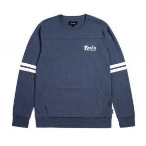 BRIXTON / ブリクストン VOYAGER CREW L/S KNIT Tシャツ ロンT スウェット INDIGO インディゴ|americanrushstore