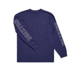 ブリクストン メンズ ロンT ポケット 長袖 Tシャツ パトリオット ブルー スタンダード フィット ポケT BRIXTON PUCK II L/S PKT T PATRIOT BLUE STANDARD FIT|americanrushstore