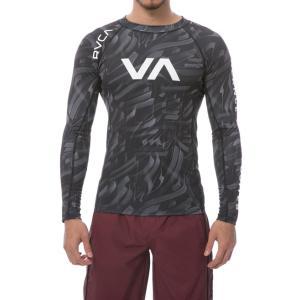 ルーカ 長袖 ラッシュガード カモフラージュ ブラック メンズ UVカット RVCA L/S RASHGUARD CAMOUFLAGE|americanrushstore