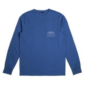 ブリクストン 長袖 Tシャツ ロンT ディープ ブルー プレミアムフィット BRIXTON DALE L/S PREMIUM TEE DEEP BLUE|americanrushstore