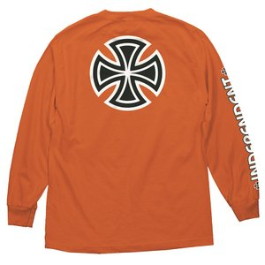 インディペンデント トラック バー クロス 長袖 Tシャツ オレンジ ロンT メンズ レディース INDEPENDENT TRUCK BAR CROSS L/S T ORANGE|americanrushstore