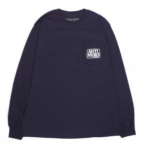 アンチヒーロー アンタイヒーロー メンズ ロンT ポケット 長袖 Tシャツ ネイビー ANTI HERO RESERVE POCKET L/S T NAVY|americanrushstore
