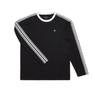 ブリクストン メンズ ロンT 長袖 Tシャツ ブラック/ホワイト BRIXTON ESTE L/S KNIT BLACK/WHITE|americanrushstore