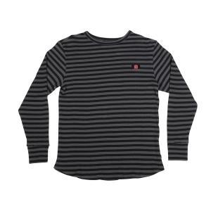 インディペンデント サーマル 長袖 Tシャツ ブラック / ダーク グレー ボーダー ロンT メンズ INDEPENDENT TRUCK SCORCH THERMAL L/S T ブラック/ダーク グレー|americanrushstore