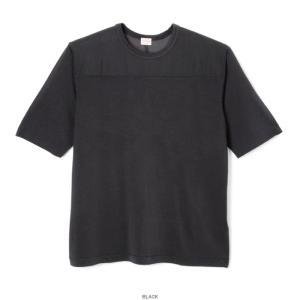 ヘルスニット ビンテージ レーヨン フットボール 五分袖 Tシャツ ブラック メンズ レディース 黒 HEALTHKNIT 5332 VINTAGE RAYON FOOTBALL T-SHIRT BLACK|americanrushstore