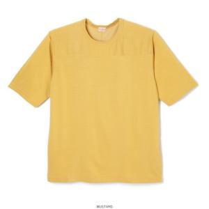 ヘルスニット ビンテージ レーヨン フットボール 五分袖 Tシャツ マスタード メンズ レディース HEALTHKNIT 5332 VINTAGE RAYON FOOTBALL T-SHIRT MUSTARD|americanrushstore