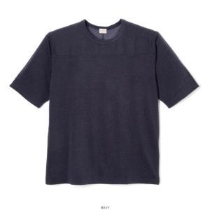 ヘルスニット ビンテージ レーヨン フットボール 五分袖 Tシャツ ネイビー メンズ レディース 紺 HEALTHKNIT 5332 VINTAGE RAYON FOOTBALL T-SHIRT NAVY|americanrushstore