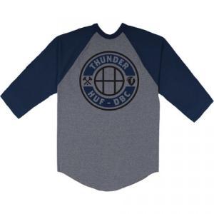 THUNDER × HUF / サンダー MAINLINE RAGLAN TEE ベースボールTシャツ ラグラン 七分袖 ATHLETIC GREY / NAVY|americanrushstore
