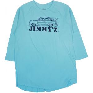 ジミージー ジミーズ ベースボール Tシャツ ラグラン ライトブルー オールドスケート サーフ JIMMY'Z 3/4 SLEEVE BASEBALL T-SHIRT LIGHT BLUE OLD SKATE SURF|americanrushstore