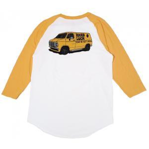 ハードラック ラグラン スリーブ Tシャツ ベースボール Tシャツ 七分袖  メンズ HARD LUCK VAN RAGLAN SLEEVE TEE WHITE|americanrushstore