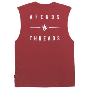 アフェンズ メンズ バンドカット Tシャツ チリ タンクトップ ノースリーブ スケート サーフ AFENDS COMPANY BANDCUT T-SHIRT CHILLI JM191091|americanrushstore