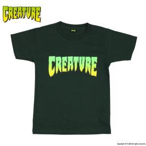 クリーチャー ユース キッズ サイズ ロゴ 半袖 Tシャツ ブラック 黒 スケボー スケートボード フレーク 子供服 CREATURE YOUTH LOGO REGULAR S/S T-SHIRT BLACK|americanrushstore