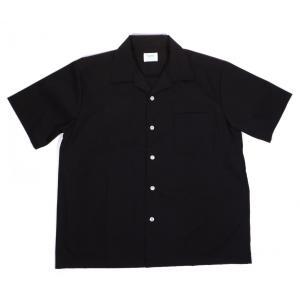 パーマ プレスト オープンカラー 半袖 シャツ ビンテージ 復刻 ブラック PERMA-PREST OPEN COLLAR S/S SHIRT BLACK|americanrushstore