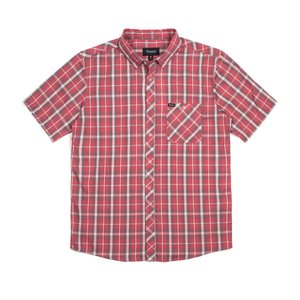 BRIXTON / ブリクストン HOWL S/S WOVEN SHIRT ボタンダウン 半袖シャツ RED レッド チェック americanrushstore