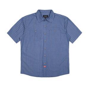 BRIXTON / ブリクストン BLAKE S/S WOVEN SHIRT 半袖シャツ BLUE ブルー|americanrushstore