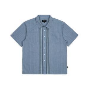 ブリクストン 半袖 オープンカラーシャツ アジアンフィット ライトブルー 柄シャツ ボックスシルエット BRIXTON CRUZ ASIAN FIT S/S WOVEN LIGHT BLUE|americanrushstore