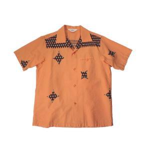 STAR OF HOLLYWOOD / スターオブハリウッド SH36161 CHECK & DIAMOND オープンカラーシャツ 東洋エンタープライズ 159 ORANGE オレンジ 送料無料|americanrushstore