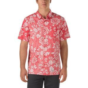 VANS / バンズ 50TH DUKE ALOHA SHIRT 半袖シャツ REINVENT RED 50周年 DUKE KAHANAMOKU ハワイアン アロハシャツ|americanrushstore