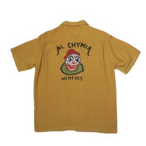 STYLE EYES / スタイルアイズ SE36860 AL CHYMIA BOWLING SHIRT ボーリングシャツ 東洋エンタープライズ 155 YELLOW 送料無料 americanrushstore