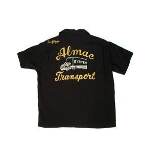 STYLE EYES / スタイルアイズ SE36167 ALMAC TRANSPORT BOWLING SHIRT ボーリングシャツ 東洋エンタープライズ 119 BLACK ブラック 送料無料 americanrushstore